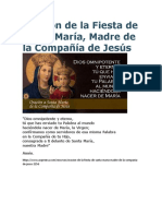 Oración de La Fiesta de Santa María