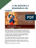 Oración de petición a María desatadora de nudos.doc
