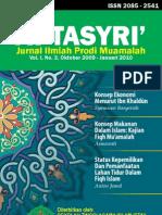Jurnal At-Tasyri' volume 1 nomor 3