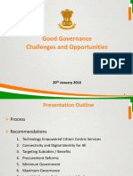 """Good Governance – Challenges and Opportunities"""""""