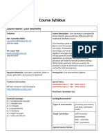 syllabus core geometry fall 2018