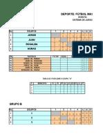 Fixture Fu_tbol Eventos Torneo Veredal 2018