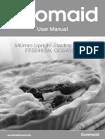 Euro 2015054 Ffs5463w-Gg54ssw Uprights User Manual Grayscale