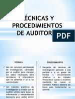 Hoja 6 - Técnicas y Procedimientos de Auditoria