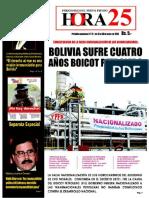 Bolivia sufre cuatro años boicot petrolero