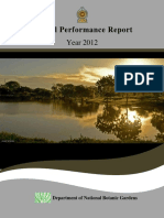 Performance Report Department of National Botanic Gardens 2012