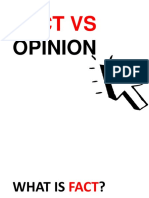 Fact Versus Opinion