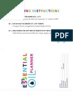 Essential Oil Planner Printable