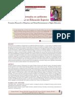 La investigación formativa en ambientes ubicuos y virtuales en Educación Superior