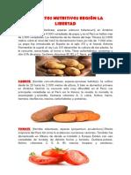 Alimentos Nutritivos Región La Libertad
