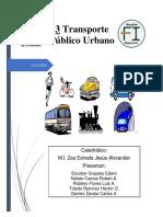 Unidad 3. Transporte Publico Urbano