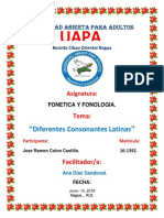 Tarea 5, De Fonologia y Fonetica,