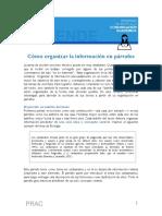Como Organizar La Informacion en Parrafos