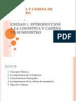 Unidad 1. Introduccion a La Logistica y Cadena de Suministro