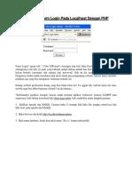 Cara Membuat Form Login Pada Localhost Dengan PHP.docx