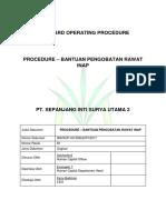 Hc 006 Sop Pt Sisu2 - Procedure – Bantuan Kesehatan Rawat Inap