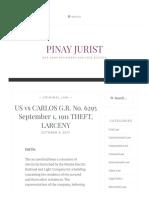 US vs CARLOS G.R. No. 6295 September 1, 1911 THEFT, LARCENY – Pinay Jurist.pdf