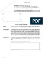 Motor Accident Loss Claim Form & Checklist