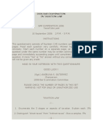 2006 Bar Examination in Taxation Law