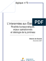 IFRI Focus Strategique 3 DeDurand Interarmees