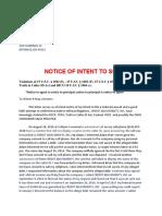 2018 Intent to Sue Credit Adjustment
