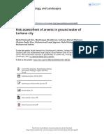 Risk Assessment of Arsenic in Ground Water of Larkana City