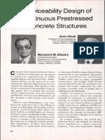 Serviceability Design of Continuous Prestressed Concrete Structures