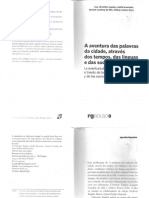 A Aventura Das Palavras Da Cidade, Através Dos Tempos, Das Línguas e Das Sociedades (2014) - Verbetes Selecionados