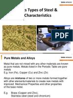 Basics of Steel & Characterstics