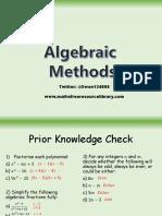 1) Algebraic Methods