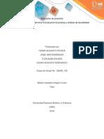 Version No1 Fase 3 - Determinar La Evaluación Económica y Análisis de Sensibilidad