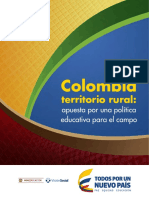 Ministerio de Educación Colombia Territorio Rural
