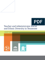 Teacher and Administrator Racial and Ethnic Diversity in Tennessee