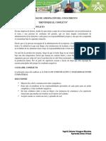 """ACTIVIDAD DE APROPIACIÓN DEL CONOCIMIENTO """"IDENTIFIQUE EL CONFLICTO"""""""
