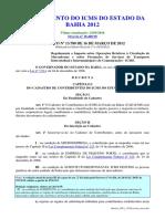 Decreto RICMS BA 2018