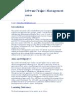 CS3007A Software Project Management