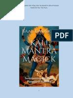 (Occultism Vietnam) Kali Mantra Magick tiếng Việt