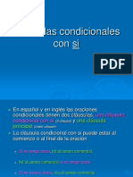 Cláusulas Condicionales Con Si Español