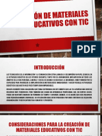 Creación de Materiales Educativos Con Tic