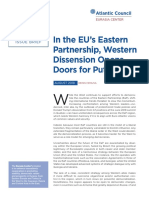In the EU's Eastern Partnership, Western Dissension Opens Doors for Putin