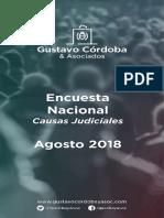 Encuesta agosto 2018 - Gustavo Córdoba y Asociados