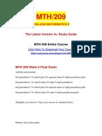 MTH 209 Week 5 Final Exam