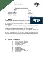 Silabo Finanzas Avanzadas Unt 2018