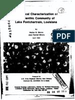 Benthic Community Lake Pontchartrain Louisiana Sikora 1982