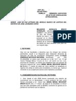 Ejecucion de Acta de Conciliacion Milagros Bravo Gonzales