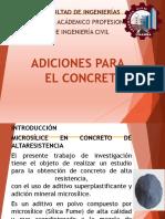 Informe de Adiciones Para El Concreto - Materiales de Construccion