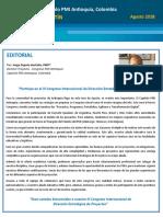 Capítulo PMI Antioquia, Colombia - Agosto 2018