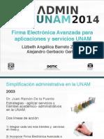 10 - Firma Electronica Para Aplicaciones y Servicios UNAM
