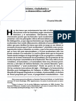 Feminismo Ciudadania y Politica Democratica Radical (Mouffe)