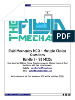 Fluid Mechanics MCQ - Bundle 1 - Sample
